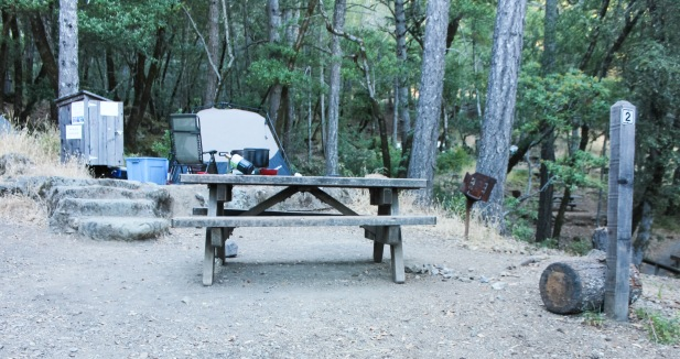 Bootjack campground site 2