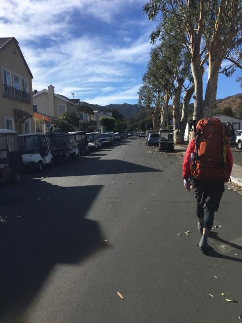 Hiking through town