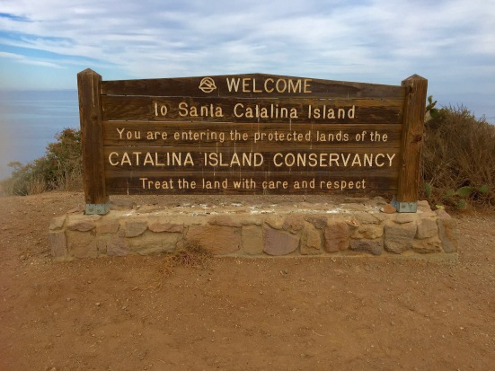 Catalina Island Sign leaving Two Harbors